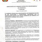 LA ASAMBLEA DEPARTAMENTAL DE CHUQUISACA VUELVE AL TRABAJO HABITUAL CON LAS SESIONES PRESENCIALES
